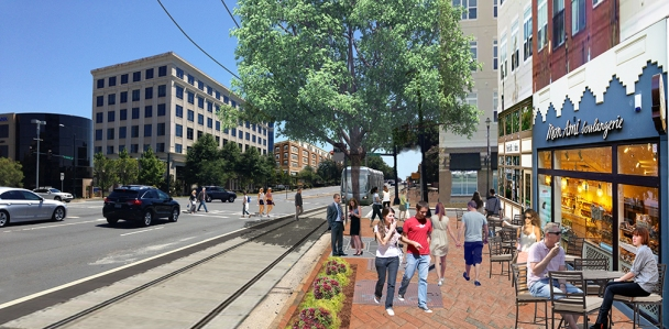 Fairview Road with intentional urban design and planned mobility